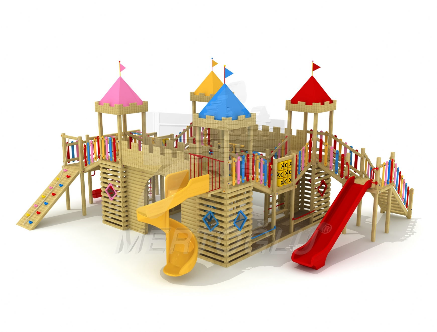 Mertoglu concept wooden play ground saw the desired interest resultes from R & D team Works.