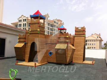 Wood Castle Shaped Completed Project