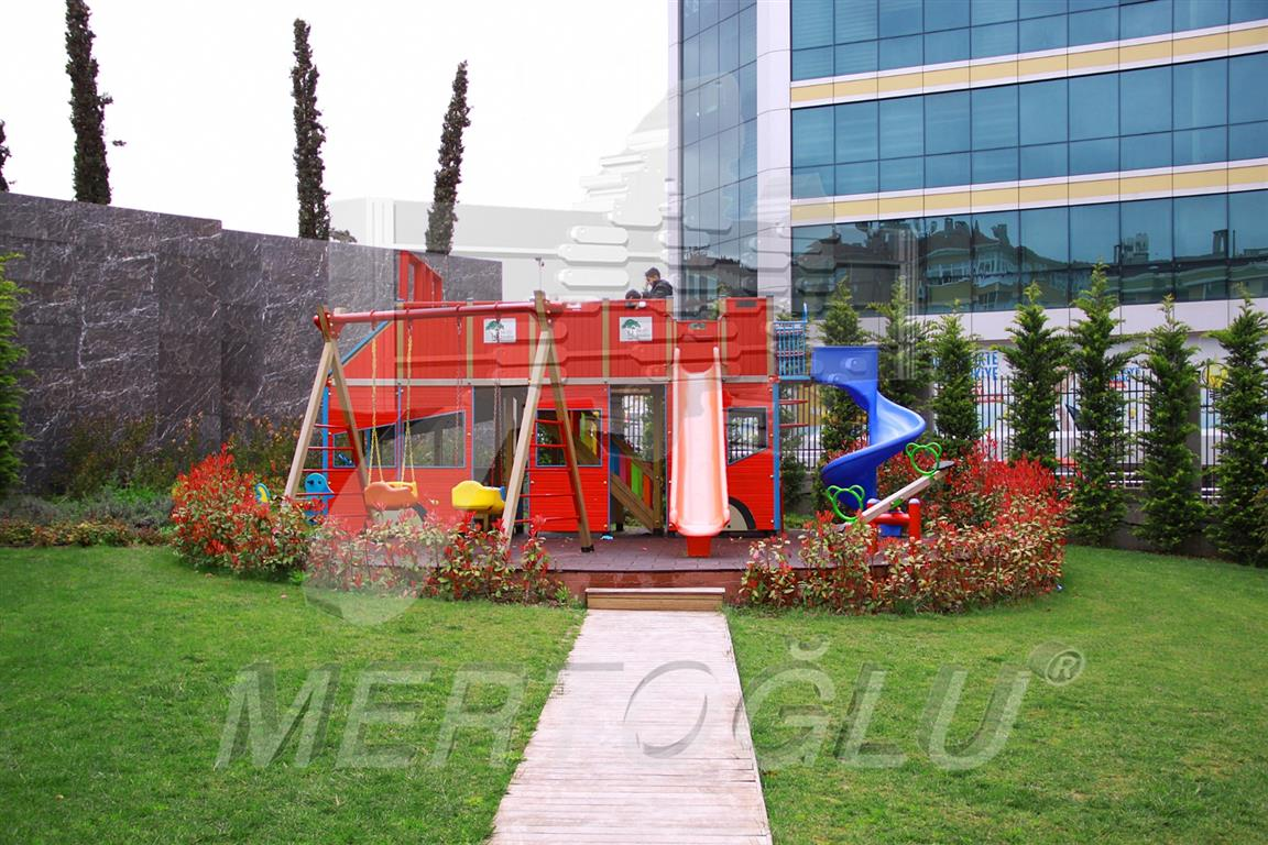 Bus Shaped Playground Equipment