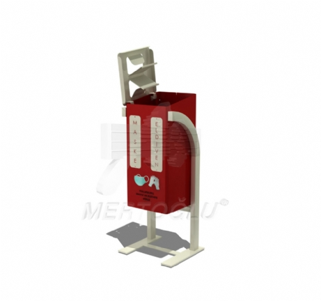 Outdoor Medical Mask and Glove Waste Bin With Profile Legs